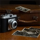 old camera and photos